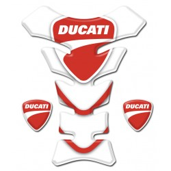 Ducati Tank Pad White and Red - All Models