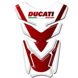 Ducati Tankpad Red & White style with Italian flag